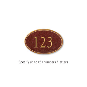 Salsbury 1439MGNS Signature Series Address Plaque