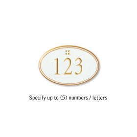 Salsbury 1439WGGS Signature Series Address Plaque