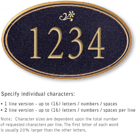 Salsbury 1430BGDS Signature Series Address Plaque