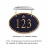 Salsbury 1435BGIH Signature Series Address Plaque