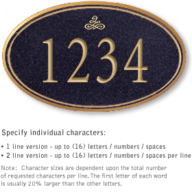 Salsbury 1430BGIS Signature Series Address Plaque