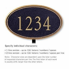 Salsbury 1430BGNL Signature Series Address Plaque