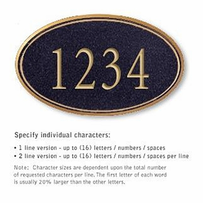 Salsbury 1430BGNS Signature Series Address Plaque