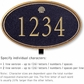 Salsbury 1430BGSS Signature Series Address Plaque