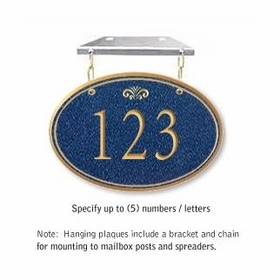 Salsbury 1435CGFH Signature Series Address Plaque