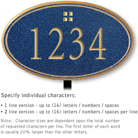 Salsbury 1430CGGL Signature Series Address Plaque