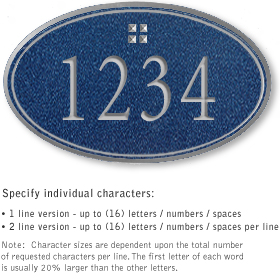 Salsbury 1430CSGS Signature Series Address Plaque