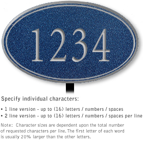 Salsbury 1430CSNL Signature Series Address Plaque