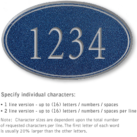 Salsbury 1430CSNS Signature Series Address Plaque