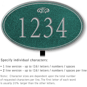 Salsbury 1430JSFL Signature Series Address Plaque