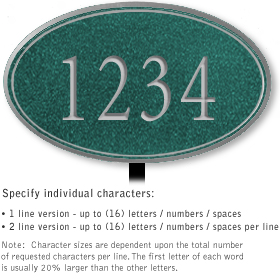 Salsbury 1430JSNL Signature Series Address Plaque
