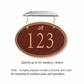 Salsbury 1435MGDH Signature Series Address Plaque