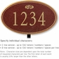 Salsbury 1430MGFL Signature Series Address Plaque