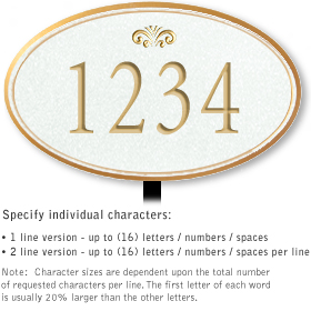 Salsbury 1430WGFL Signature Series Address Plaque