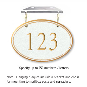 Salsbury 1435WGNH Signature Series Address Plaque