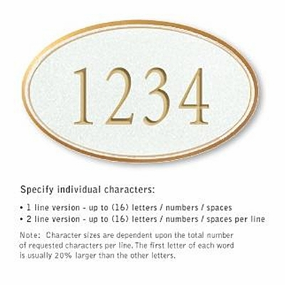 Salsbury 1430WGNS Signature Series Address Plaque