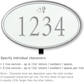 Salsbury 1430WSDL Signature Series Address Plaque