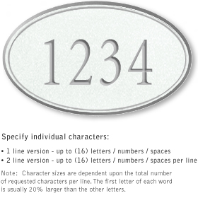 Salsbury 1430WSNS Signature Series Address Plaque