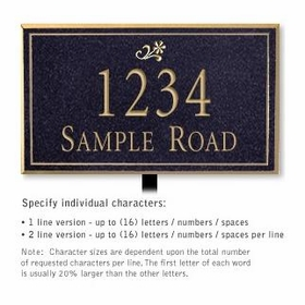 Salsbury 1412BGDL Signature Series Address Plaque