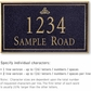 Salsbury 1412BGIS Signature Series Address Plaque