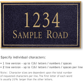 Salsbury 1412BGNS Signature Series Address Plaque