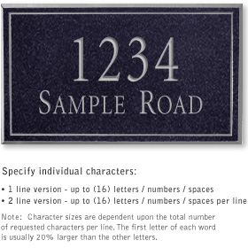 Salsbury 1412BSNS Signature Series Address Plaque