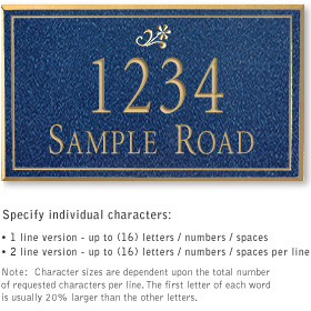 Salsbury 1412CGDS Signature Series Address Plaque