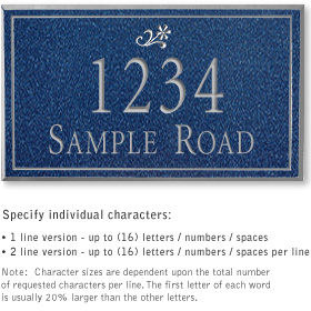 Salsbury 1412CSDS Signature Series Address Plaque