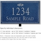 Salsbury 1412CSFL Signature Series Address Plaque
