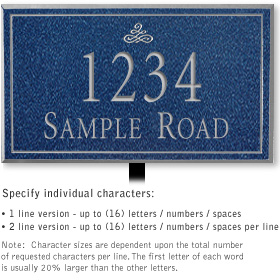Salsbury 1412CSIL Signature Series Address Plaque