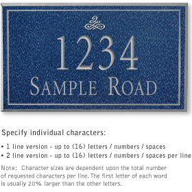 Salsbury 1412CSIS Signature Series Address Plaque