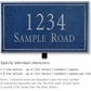 Salsbury 1412CSNL Signature Series Address Plaque