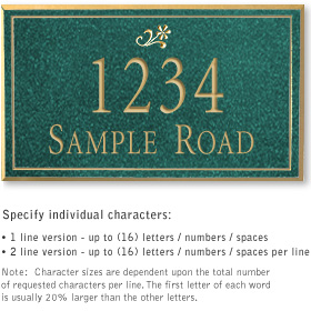 Salsbury 1412JGDS Signature Series Address Plaque