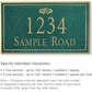 Salsbury 1412JGFS Signature Series Address Plaque