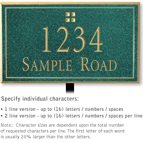 Salsbury 1412JGGL Signature Series Address Plaque