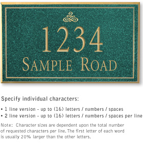 Salsbury 1412JGIS Signature Series Address Plaque