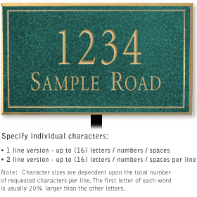 Salsbury 1412JGNL Signature Series Address Plaque