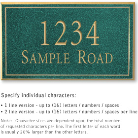 Salsbury 1412JGNS Signature Series Address Plaque