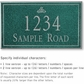 Salsbury 1412JSIS Signature Series Address Plaque