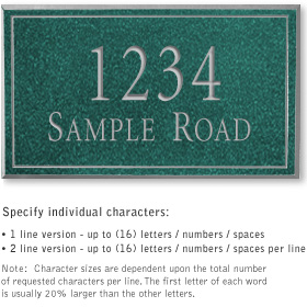 Salsbury 1412JSNS Signature Series Address Plaque