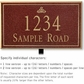 Salsbury 1412MGIL Signature Series Address Plaque