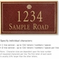 Salsbury 1412MGSS Signature Series Address Plaque