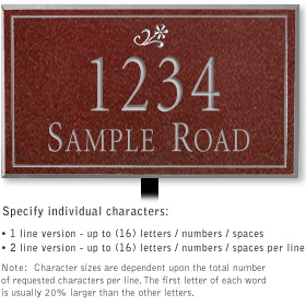 Salsbury 1412MSDL Signature Series Address Plaque