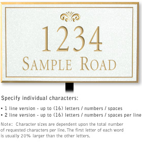 Salsbury 1412WGFL Signature Series Address Plaque