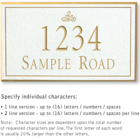 Salsbury 1412WGIS Signature Series Address Plaque