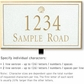 Salsbury 1412WGSL Signature Series Address Plaque
