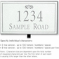 Salsbury 1412WSFL Signature Series Address Plaque