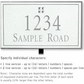 Salsbury 1412WSGL Signature Series Address Plaque