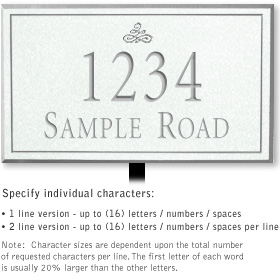 Salsbury 1412WSIL Signature Series Address Plaque