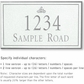 Salsbury 1412WSIS Signature Series Address Plaque